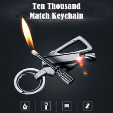 Outdoor Camping Survival Emergency Fire Starter Flint Match Lighter Keychain