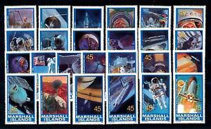[56970] Marshall Islands 1989 Space travel Weltraum Astronauts 25 Values MNH