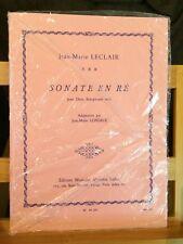 Jean-Marie Leclair Sonate en Ré transcription 2 saxophones partition Leduc
