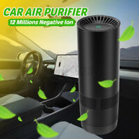 USB Air Purifying Sterilizer Carbon Anion Dust Air Cleaner Car Purifier + Filter