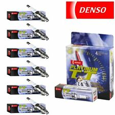 6 - Denso Platinum TT Spark Plugs for 2002-2010 Kia Sedona 3.5L 3.8L V6