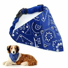 AKORD Adjustable Strap Bandana for Dogs, Medium, Blue