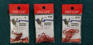 Eagle Claw Red Barrel Swivel 01014 size 1, 1/0, 2/0 **pick size