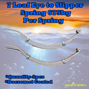 7 Leaf Eye (675kg per) Slipper Spring Decrement Coated (PAIR)