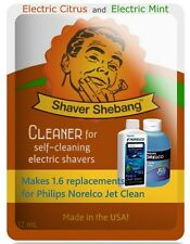 9.6 Philips Norelco Jet Clean HQ200 Equivalent=6xShaver Shebang-Citrus & Mint