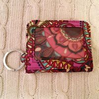 Vera Bradley Campus Double ID Small Wallet Keychain Resort Medallion MSRP $24
