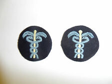 B8896p WWII US Navy Wave Medical devices Caducei winter blue pair female A5B8