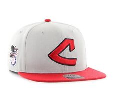 "Cleveland Indians '47 Brand MLB Snapback Hat Cap Cooperstown ""C"" Flat Brim"