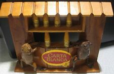 TWO TAXIDERMY FROGS IN BAR SCENE ~ ADVERTISEMENT FOR CARTA BLANCA BEER