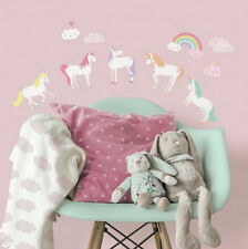 UNICORN MAGIC wall stickers 23 decals room decor mythical horse rainbow clouds