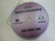 2014 DODGE RAM TRUCK 1500 Service INFORMATION Shop Manual CD DVD OEM BRAND NEW