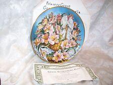 Franklin Mint Katharine Austen Plate Alstroemeria Peruvian Lily Princess Grace