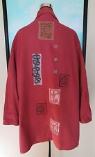 BLUE FISH Red Cotton Patchwork Jacket/Coat Sz 1