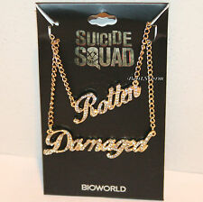 DC Comics Harley Quinn Suicide Squad Rotten & Damaged BFF Bling Necklace Set