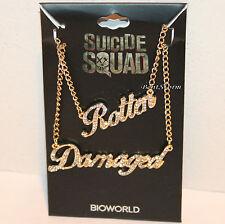 DC Comics Harley Quinn Suicide Squad Rotten & Damaged BFF Bling Necklace Set