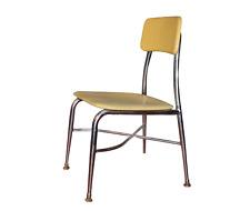 60s Mid Century Modern Heywood Wakefield Hey Woodite Child's School Chair Yellow