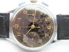 Vintage Harvard Imperial by Gallet Venus 150 All Steel Chronograph Gilt Dial