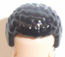 Lego Hair Male with Coiled Texture x 1 Black for Minifigure