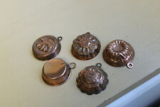 5 Small Vintage Wall Hanging Copper Molds