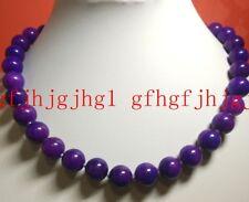 """new PURPLE 12MM AFRICA SUGILITE GEMS ROUND BEADS Gemstones Necklaces 18"""""""