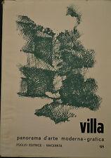 Villa- PANORAMA D'ARTE MODERNA Foglio Editrice 121, Macerata, 1970