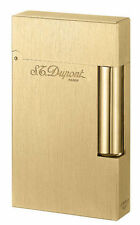 S.T. Dupont Ligne 2 Brushed Goldtone Atelier Lighter, 16125 (016125), New In Box