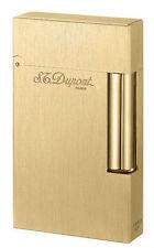 S.T. Dupont Ligne 2 Brushed Goldtone Atelier Lighter, 16125 (016125), New In Box