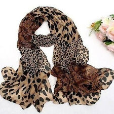 Fashion Women's Long Soft Wrap Shawl Leopard Chiffon Scarf Autumn .Casual  giyt