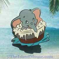 Very Rare Disney LE 500 Auctions P.I.N.S. Dumbo in Bathtub Pin (UJ:32582)