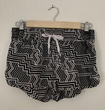 OP Juniors Boardshort Cover-Up Black White Zig Zag Swim Shorts Size M(7-9)