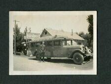Vintage Photo Crystal Springs Gas Store 1920s Studebaker Bus Sacramento 415181