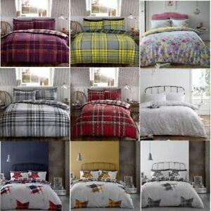 Flannelette Duvet Cover Pillow Case Quilt Cover Bedding Set Double King All Size