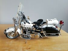 Franklin Mint 1976 Harley-Davidson Electra Glide Police Motorcycle, Parts/Repair
