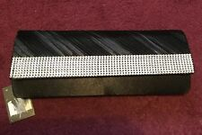 Black Clutch Bag with Diamante Style Finishing from Primark New
