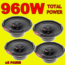 VIBE 6.5 INCH 16.5cm CAR DOOR/SHELF COAXIAL SPEAKERS SLICK 2 x PAIRS, TOTAL 960W