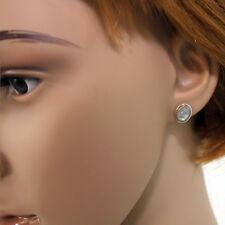 Mondstein Ohrstecker Silber 925 Ohrringe weiß blau schimmernd Sterlingsilbe larp