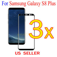 3x Full Cover Curved Clear Screen Protector Guard Film Samsung Galaxy S8 Plus