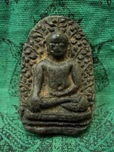 Phra Perm Ancient Buddha Haripunchai Talisman Magic Old Thai Buddhist Amulet