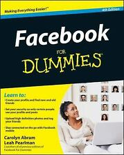 Facebook for Dummies by Leah Pearlman and Carolyn Abram (2012, Paperback)