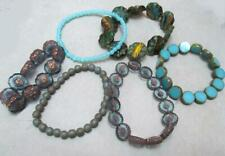 Sky Blue MIXES of CARVED Sunflower , Hibiscus, Druk , Disk, round