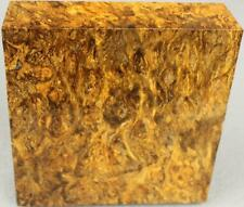 "SINDORA BURL BLANK: 1 3/4"" X 5 3/4"" X 5 3/4"" BEAUTIFUL MULTITONE COLOR! (SDB710)"