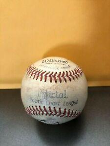 "1968-1973 WILSON ""Pacific Coast League"" Baseball (BILL McKECHNIE Jr) w/ (2) Auto"