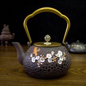 Japanese Style 1200ML Cast Iron Kettle Tetsubin Teapot for Tea Lovers New