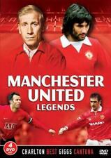 Manchester United Football Legends 4 DVD Set Bobby Charlton Best Cantona Giggs