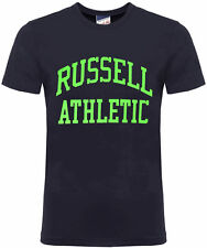 Russell Athletic Print Short Sleeves Crew Neck Mens T-shirt Fw16pon001 WH Blue M