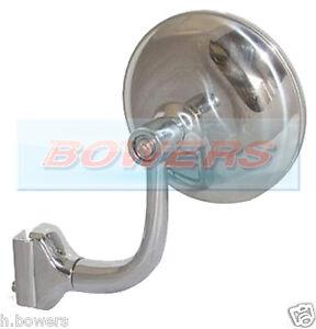"3"" STAINLESS STEEL CLAMP CLIP ON DOOR OVERTAKING PEEP MIRROR CLASSIC US CARS"