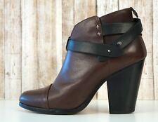 RAG & BONE 40 Brown Leather Harrow Ankle Boots 9.5