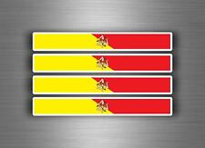 4x sticker adesivi adesivo vinyl auto moto tuning bandiera jdm bomb sicilia