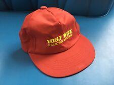 Vintage Radio Station Hat 103.7 FM WRX Classic Rock Roll Providence RI Snapback