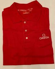 Omega Red logo Polo Shirt Seamaster/Speedmaster - Size Mens Medium